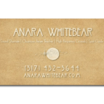Anara Whitebear Business Card Back